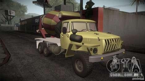 Ural 4320 betoneira para GTA San Andreas vista traseira
