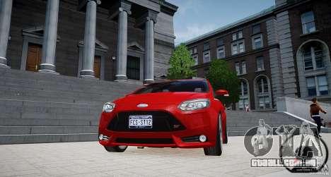 Ford Focus ST 2012 para GTA 4 vista de volta