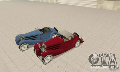 Mercedes-Benz 500K para vista lateral GTA San Andreas