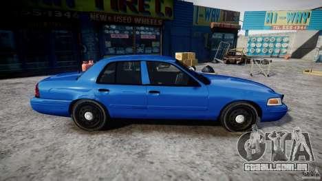 Ford Crown Victoria Detective v4.7 [ELS] para GTA 4 vista de volta