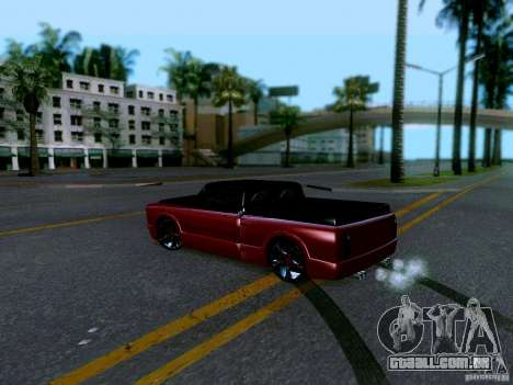 Slamvan Tuned para GTA San Andreas traseira esquerda vista
