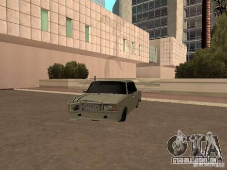 VAZ 2107 quebrado para GTA San Andreas esquerda vista