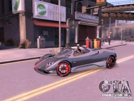 Pagani Zonda Cinque Roadster v 2.0 para GTA 4 vista direita