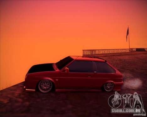 VAZ 2108 tuning para GTA San Andreas esquerda vista