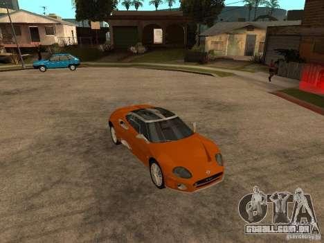 Spyker C8 Laviolete para GTA San Andreas vista traseira
