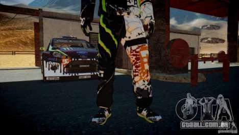 Ken Block Gymkhana 5 Clothes (Unofficial DC) para GTA 4 sétima tela