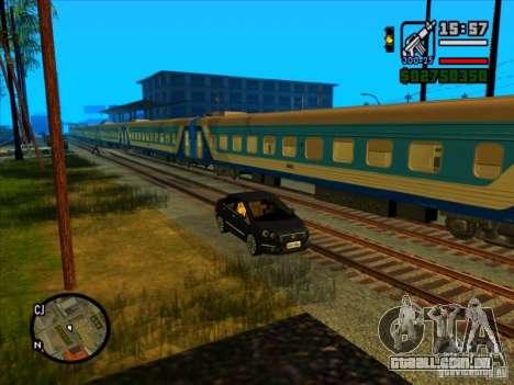 Trem longo para GTA San Andreas quinto tela