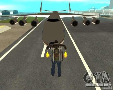 Antonov an-225 Mriya para GTA San Andreas vista traseira
