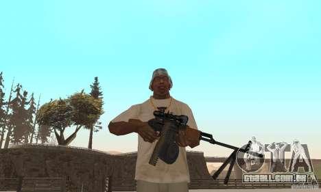 A metralhadora portátil Kalashnikov para GTA San Andreas