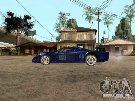 Maserati MC 12 GTrace para GTA San Andreas esquerda vista