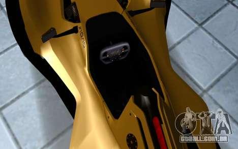 BAC Mono para GTA San Andreas vista traseira