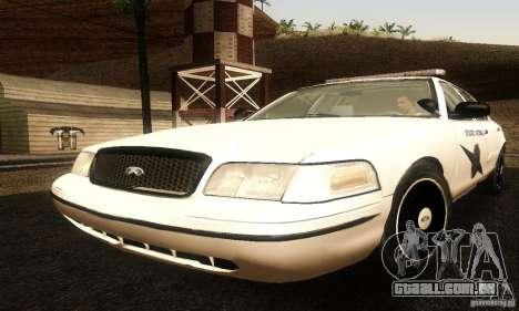 Ford Crown Victoria Washington Police para GTA San Andreas
