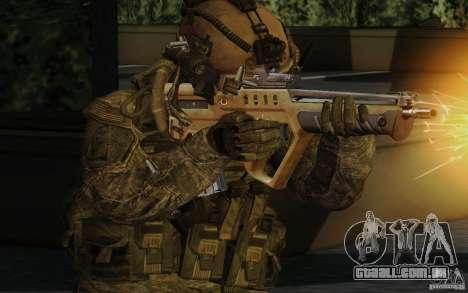 Tavor Tar-21 Desert para GTA San Andreas segunda tela