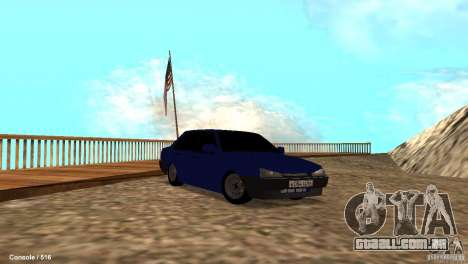 BAZ 21099 para GTA San Andreas vista inferior