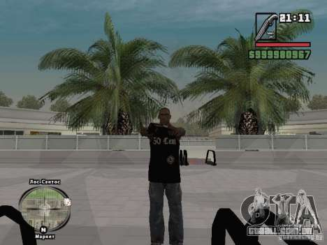 parte superior do tanque de 50 cent para GTA San Andreas terceira tela