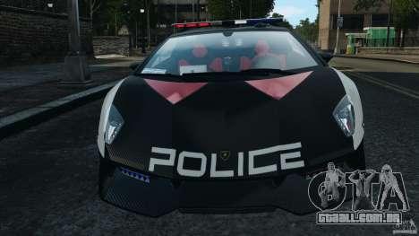 Lamborghini Sesto Elemento 2011 Police v1.0 ELS para GTA 4 vista inferior