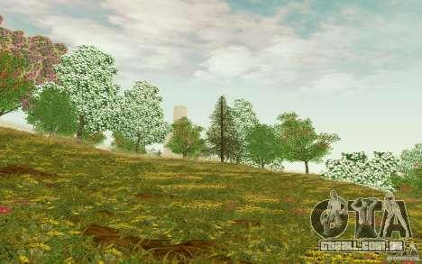 Project Oblivion 2010 Sunny Summer para GTA San Andreas por diante tela