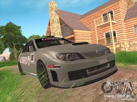 Subaru Impreza WRX STI N14 Gymkhana para GTA San Andreas vista superior