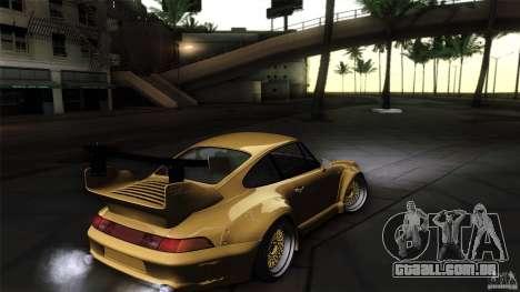 Porsche 993 RWB para GTA San Andreas vista interior