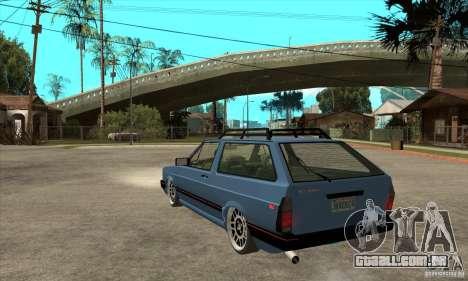 VW Fox 1989 v.2.0 para GTA San Andreas traseira esquerda vista