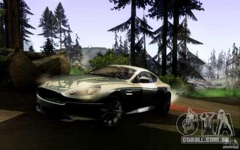 Aston Martin Virage V1.0 para GTA San Andreas traseira esquerda vista