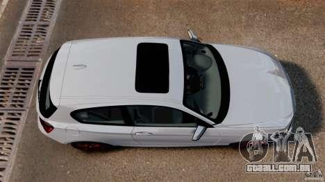 BMW 135i M-Power 2013 para GTA 4 vista direita