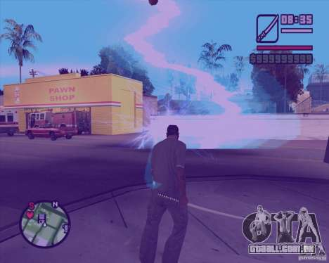 Chidory Mod para GTA San Andreas por diante tela