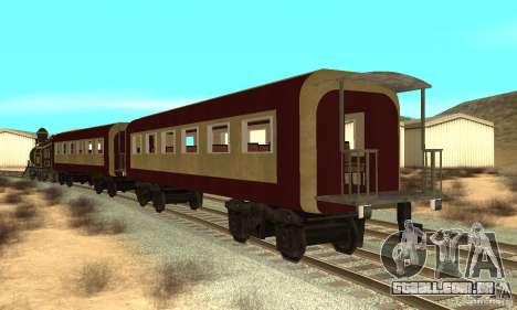 Lokomotiv para GTA San Andreas traseira esquerda vista