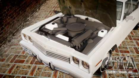 Dodge Monaco 1974 para GTA 4 vista interior