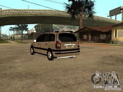 Opel Zafira para GTA San Andreas traseira esquerda vista