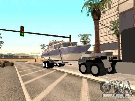 Boat Trailer para GTA San Andreas vista direita
