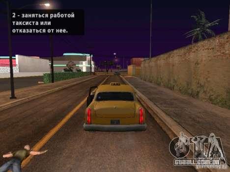 Salto de moto no meu carro para GTA San Andreas por diante tela