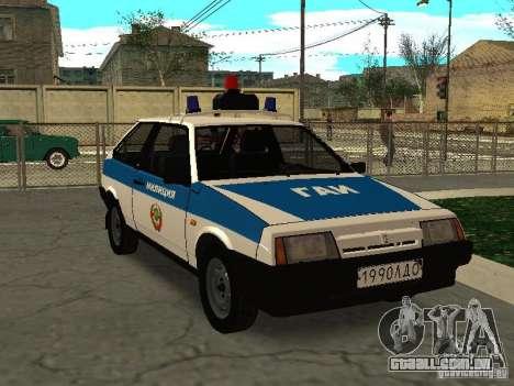 VAZ 2108 polícia para GTA San Andreas