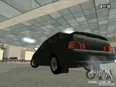 VAZ 2115 dreno para GTA San Andreas traseira esquerda vista