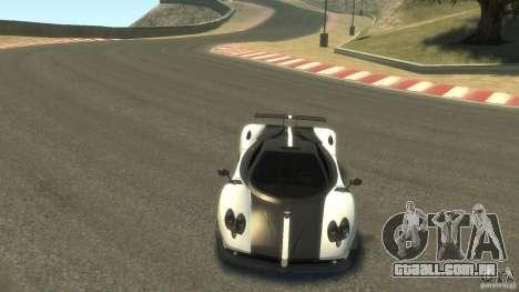 Pagani Zonda Cinque 2009 para GTA 4 vista de volta
