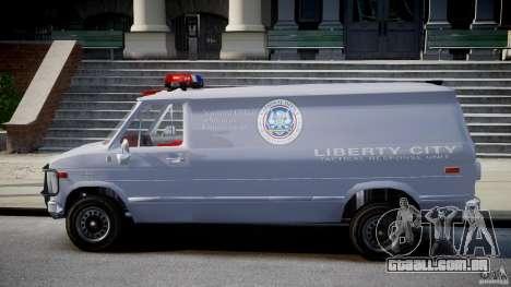 Chevrolet G20 Police Van [ELS] para GTA 4 esquerda vista
