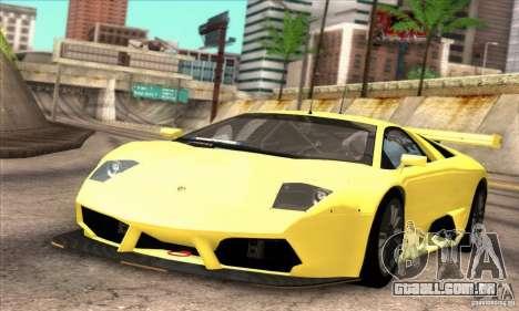 Lamborghini Murcielago R-SV GT1 para GTA San Andreas vista traseira
