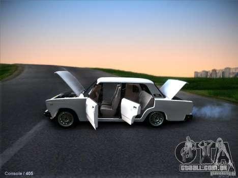 2105 Vaz estoque qualidade para GTA San Andreas vista traseira