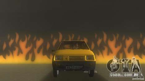 VAZ 1111 Oka Sedan para GTA Vice City vista traseira esquerda