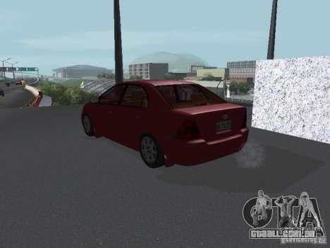 Toyota Corolla Sedan para GTA San Andreas traseira esquerda vista