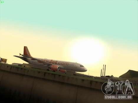 Airbus A320-214 EasyJet para GTA San Andreas esquerda vista