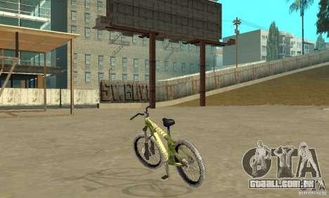 Hardy 3 Dirt Bike para GTA San Andreas traseira esquerda vista