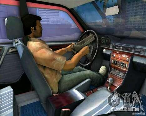 Mercedes-Benz E190 para GTA Vice City vista interior