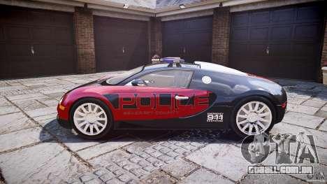 Bugatti Veyron 16.4 Police [EPM/ELS] para GTA 4 esquerda vista