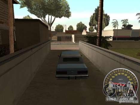 Lamborghini velocímetro para GTA San Andreas segunda tela