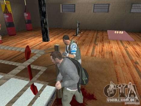 O sistema de luta de GTA IV para GTA San Andreas terceira tela