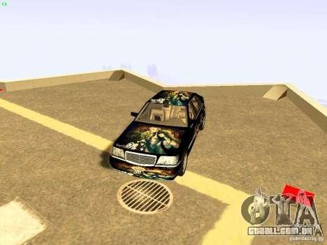 Mercedes-Benz S600 V12 para GTA San Andreas vista inferior