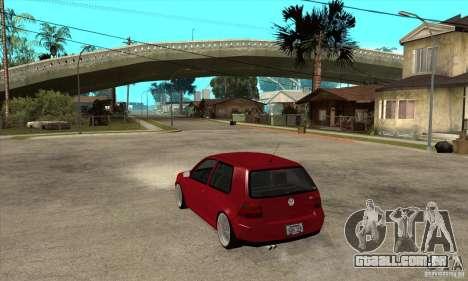 VW Golf 4 V6 Bolf para GTA San Andreas traseira esquerda vista