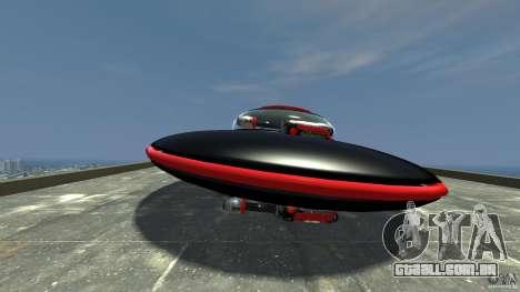 UFO neon ufo red para GTA 4 esquerda vista