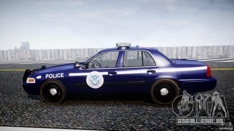 Ford Crown Victoria Homeland Security [ELS] para GTA 4 esquerda vista